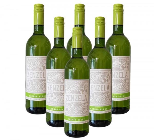 6 x 0,75l Simonsvlei Zenzela Chenin Blanc Weißwein | Trocken | Südafrika