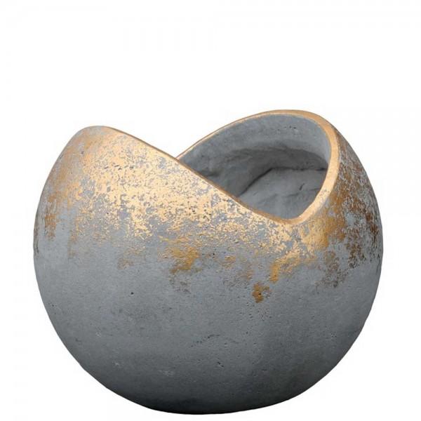 Zementtopf BT241 Ø 37cm Grau/Gold (2 Stück)