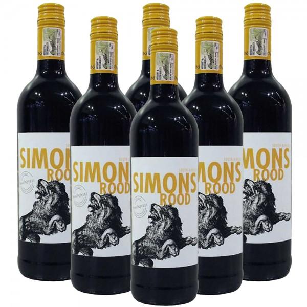 6 x 0,75l Simonsvlei Simonsrood Rotwein | Trocken | Südafrika