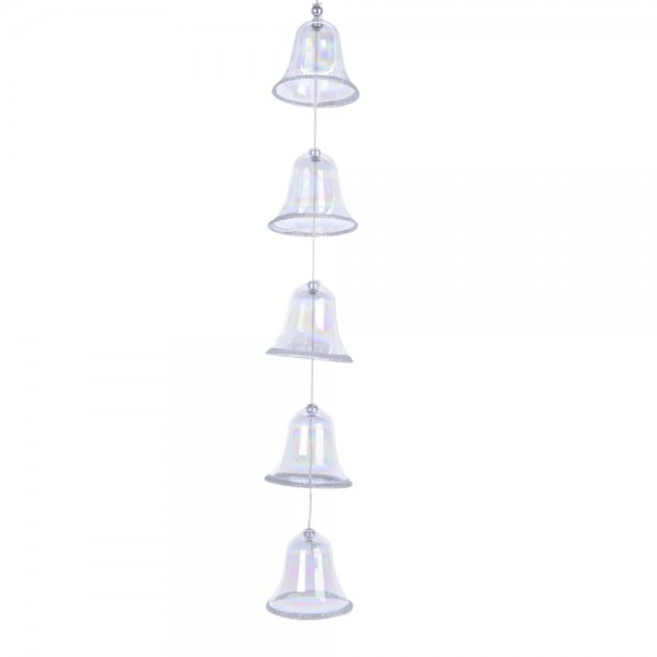 Glockengrilande mit 5 Glocken aus Glas