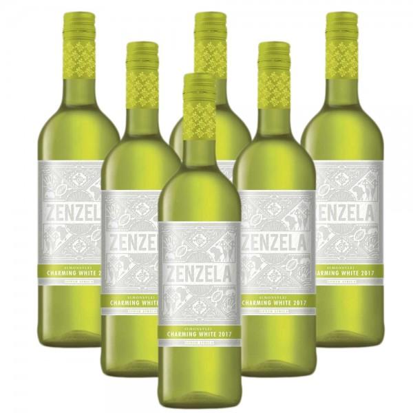 6 x 0,75l Simonsvlei Zenzela Charming White Weißwein | Trocken | Südafrika