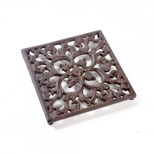 Gußeisen Untersetzer aus Metall (L=17cm Braun) 2 Stück