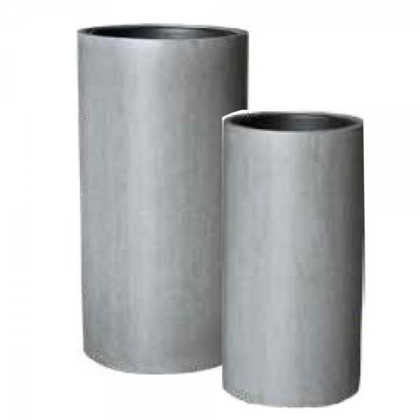 Vase Nora aus Glasfaser in Grau
