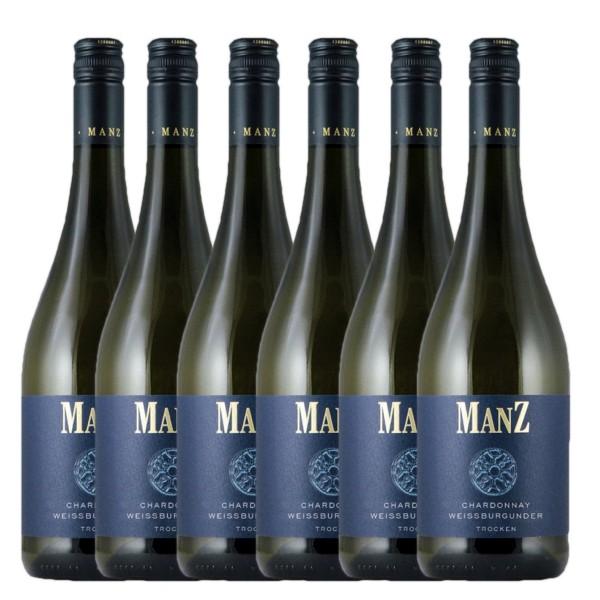 6 x 0,75l Chardonnay & Weißburgunder | Weingut Manz | Rheinhessen