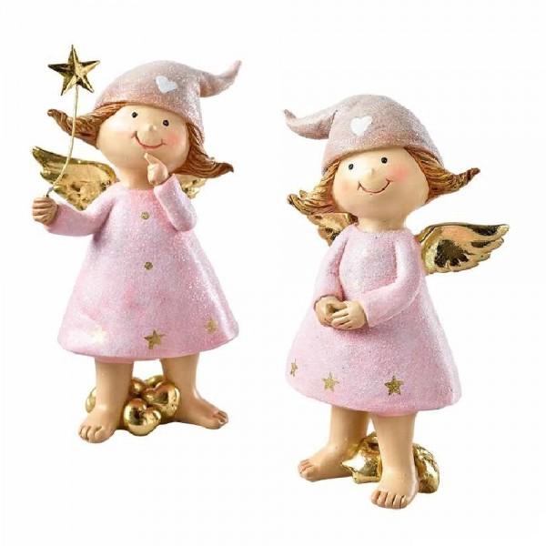Engel mit Stern im Set (2 Stück)