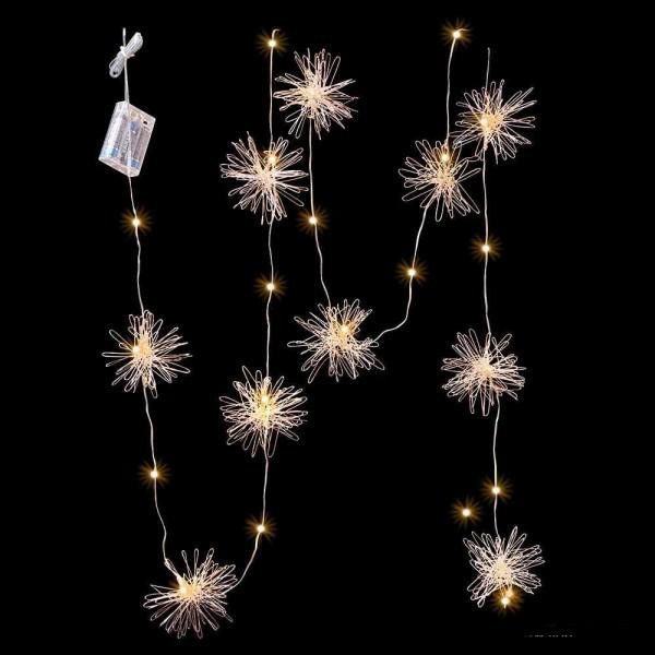 LED Girlanden Draht mit Sternen 200cm lang
