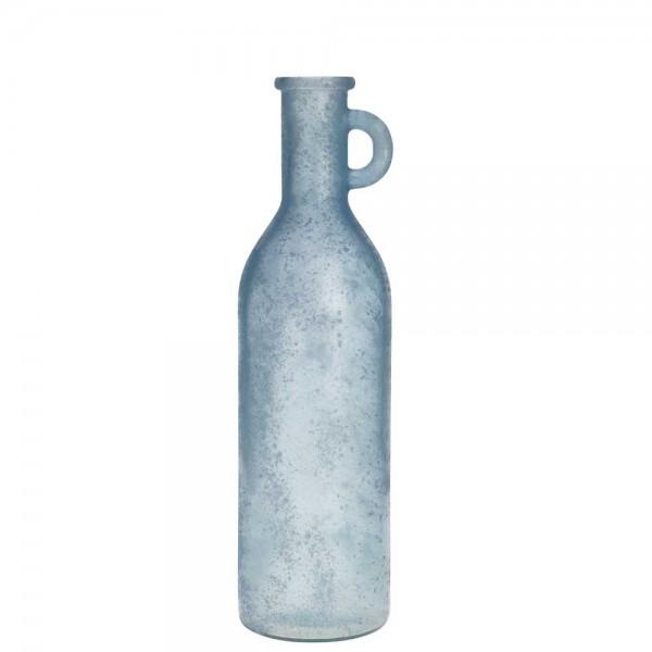 Glasflasche Antik Hellblau 50 / 75 cm Hoch