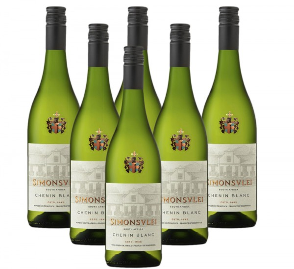 Simonsvlei Chenin Blanc 6 x 0,75l Weißwein   Trocken   Südafrika