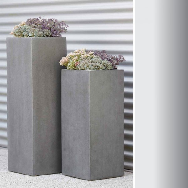 """Glasvaser Vase """"Arne"""" in Grau"""