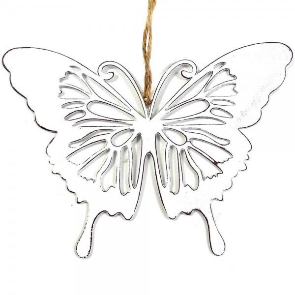 Schmetterling zum Hängen im Set aus Metall