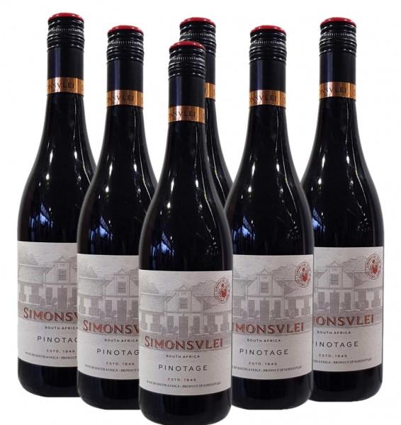 Simonsvlei Pinotage 6 x 0,75l Rotwein | Trocken | Südafrika