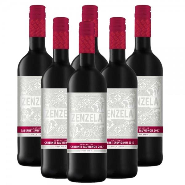 6 x 0,75l Simonsvlei Zenzela Cabernet Sauvignon Rotwein | Trocken | Südafrika