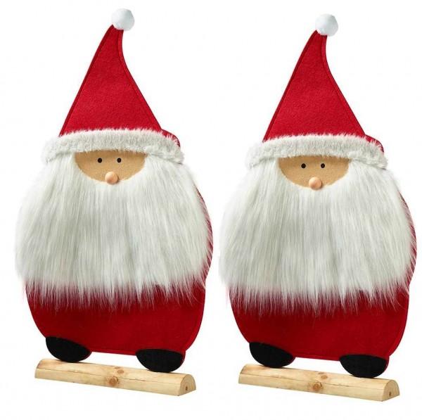 Nikolaus aus Filz mit Holzfuß
