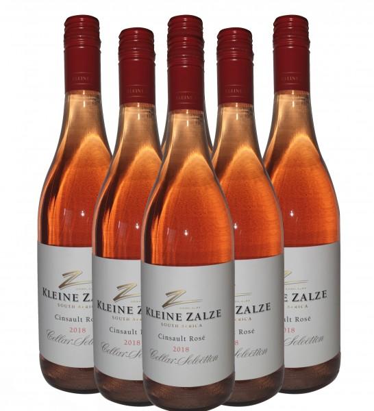 Kleine Zalze - Cellar Selection - Cinsault Rosé - Südafrikanischer Roséwein - Trocken - 6 x 0,75l