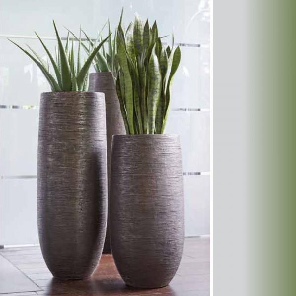 Glasfaser Vase Delia in drei Größen (Graphit)