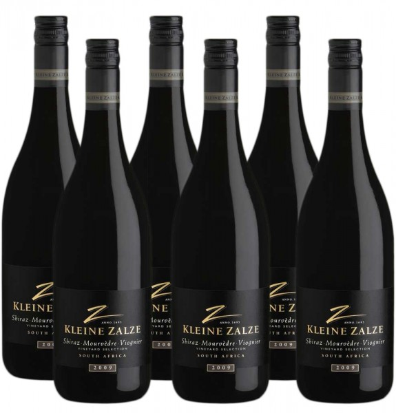 6 x 0,75l Kleine Zalze Shiraz Mourveder-Viognier Rotwein | Südafrika | Trocken