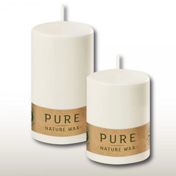 100% Natural Waxkerzen Stumpe Pure SC Natur 05 (12 Stück)