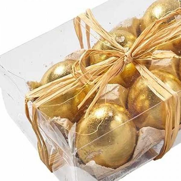 Eier aus Styropor goldfarbig (12 Stück)