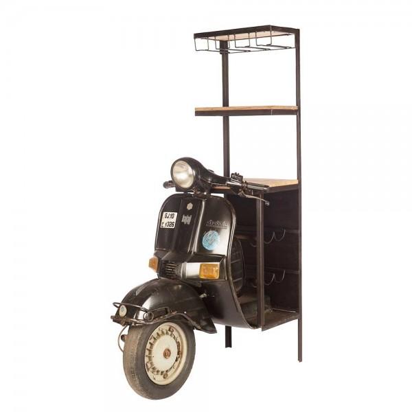 Originelles Barregal, Motorroller, Vespa, Bar, Deko, Regal Höhe 162cm