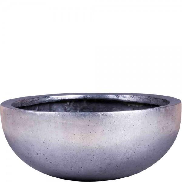 """Schale """"Lilly"""" Modern Silber aus Glasfaser"""