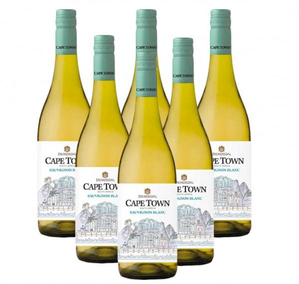 6 x 0,75l Diemersdal Cape Town Sauvignon Blanc Weißwein   Südafrika   Trocken