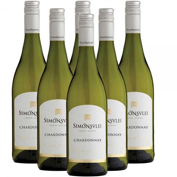 Simonsvlei Chardonnay 6 x 0,75l Weißwein | Trocken | Südafrika