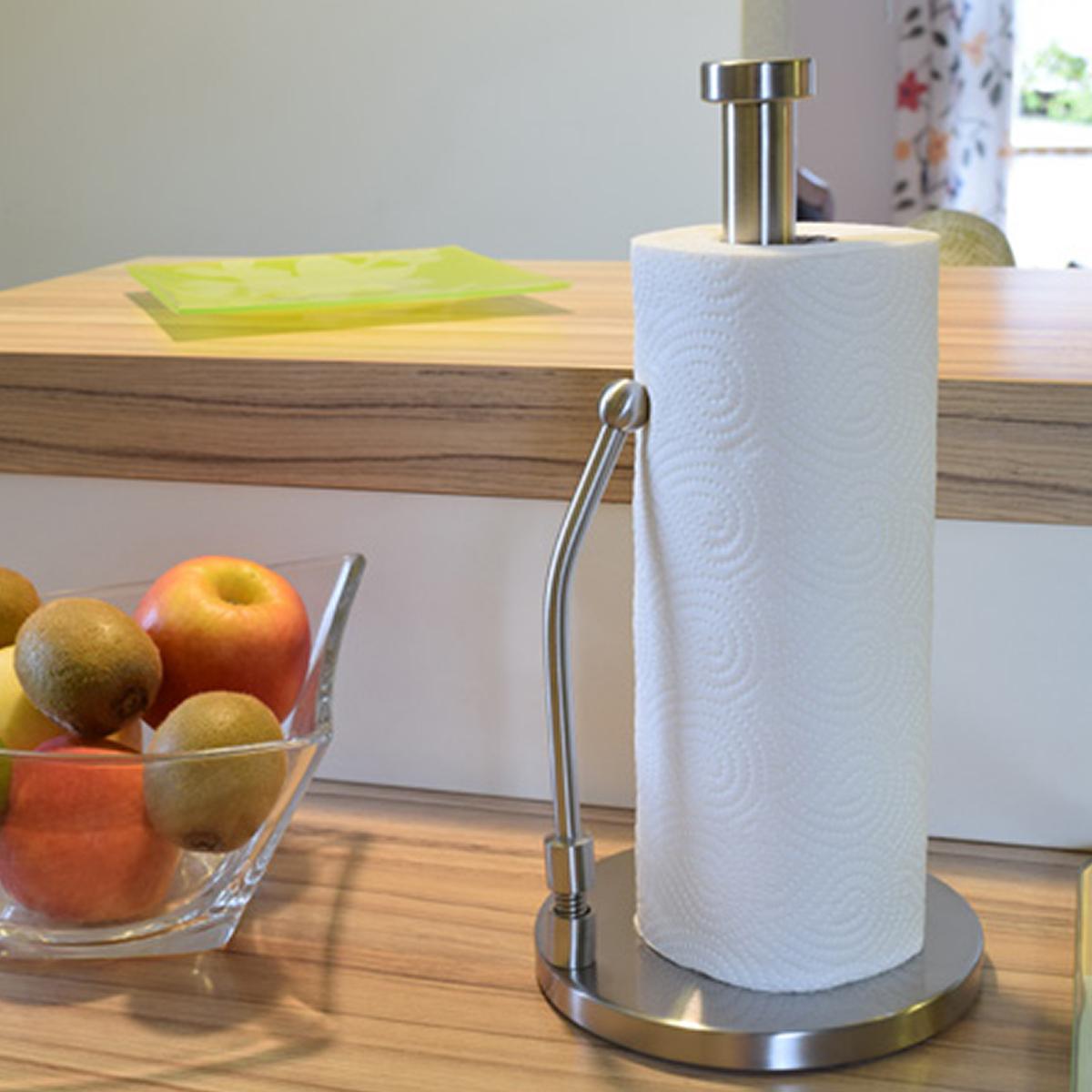 Milu Küchenrollenhalter stehend Papierrollenhalter Küche stehender  Rollenhalter aus Edelstahl, Küche