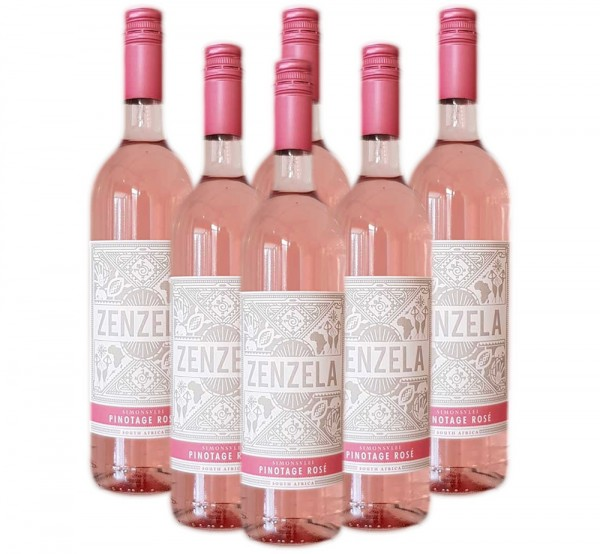 6 x 0,75l Simonsvlei Zenzela Pinotage Rose Halbtrocken | Südafrika