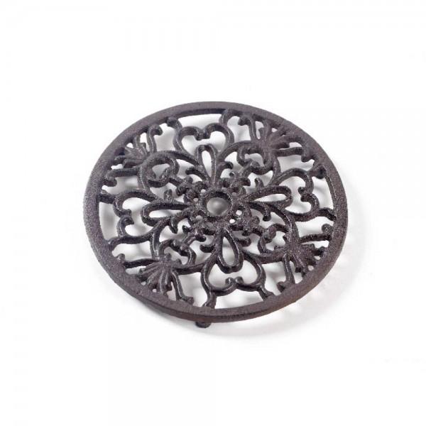 Gußeisen Untersetzer aus Metall (Ø 18cm Rund / Braun) 6 Stück